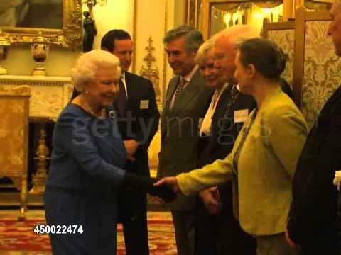 Alan Rickman meets Queen Elizeth II, February 17, 2014