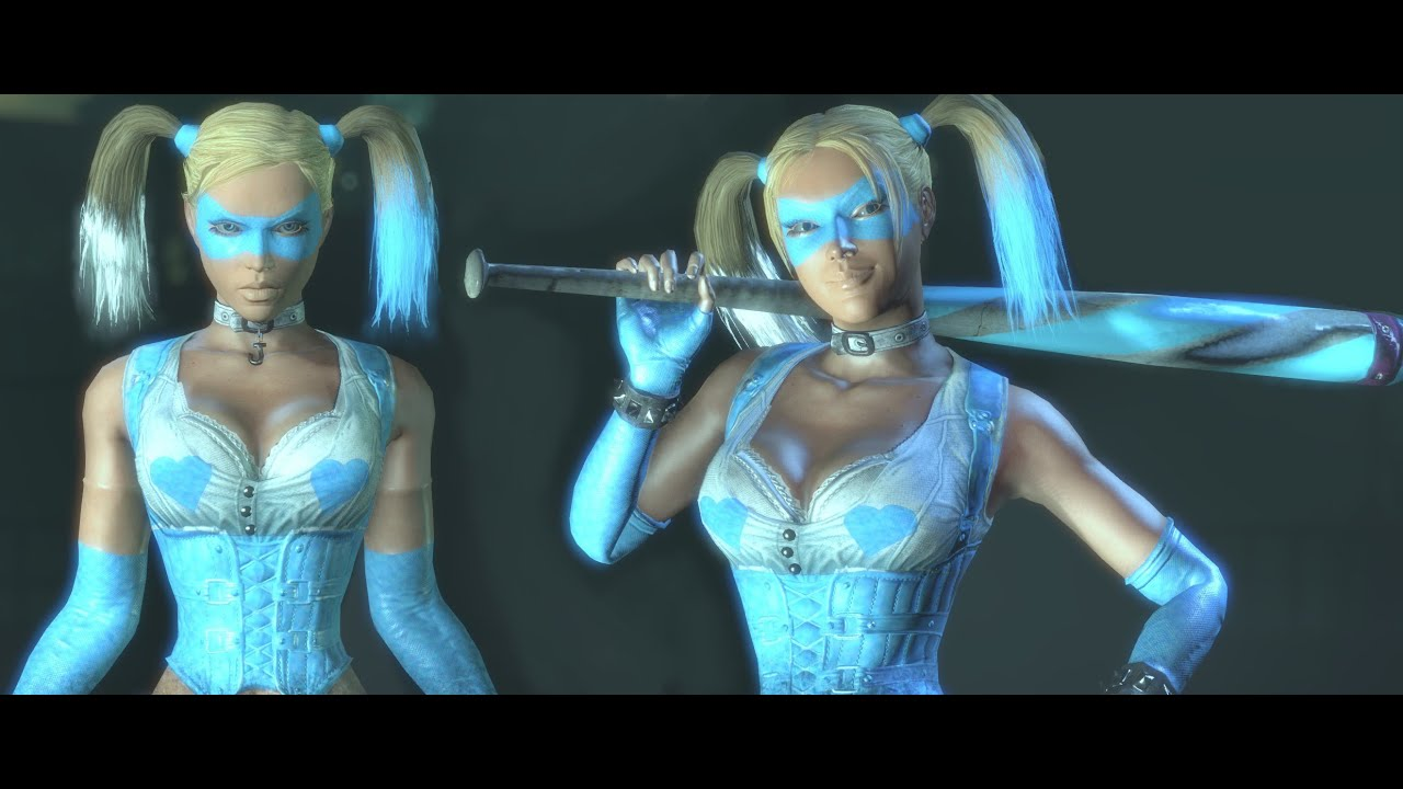 SKIN; Batman; Arkham City; R Mika Harley Quinn - YouTube