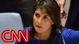 Haley: US lock and loaded if Syria uses gas again
