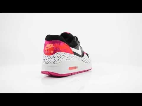 nike-air-max-1-print-dames-sneakers---wit-zwart-roze-|-ss15