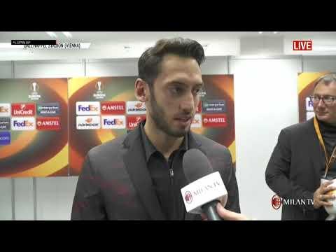 Interviste post Austria Vienna Milan 1 5 EL Antonelli, Montella, Calhanoglu, Silva   sottotitolato
