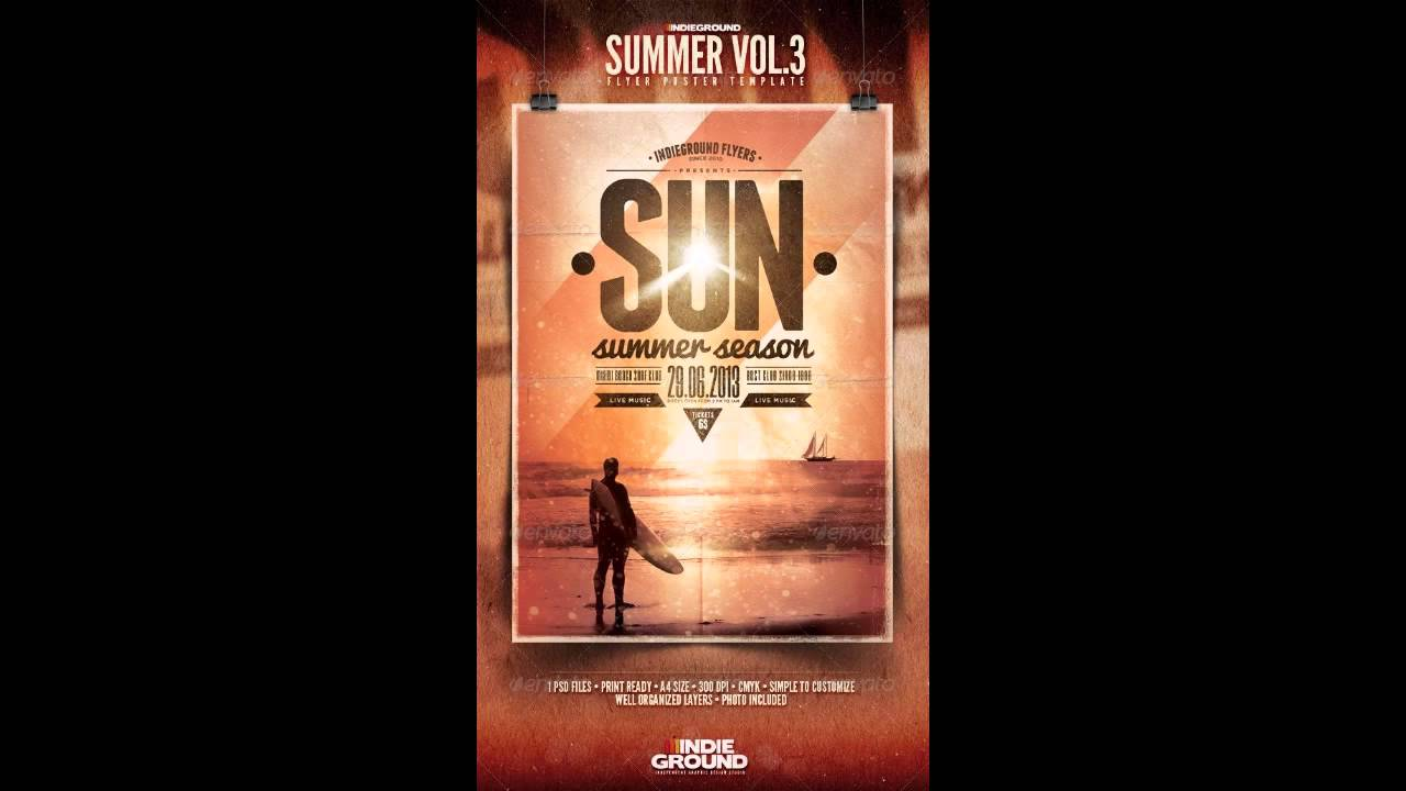 Summer Flyer/Poster (PhotoShop Template Free) - YouTube