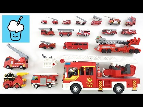 Fire Trucks for children kids with tomica トミカ VooV ブーブ 変身 lego playmobil tayo  타요 꼬마버스 타요 중앙차고지