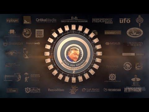 Giorgio Tsoukalos presents Erich Von Daniken with Stellar Citizen Award