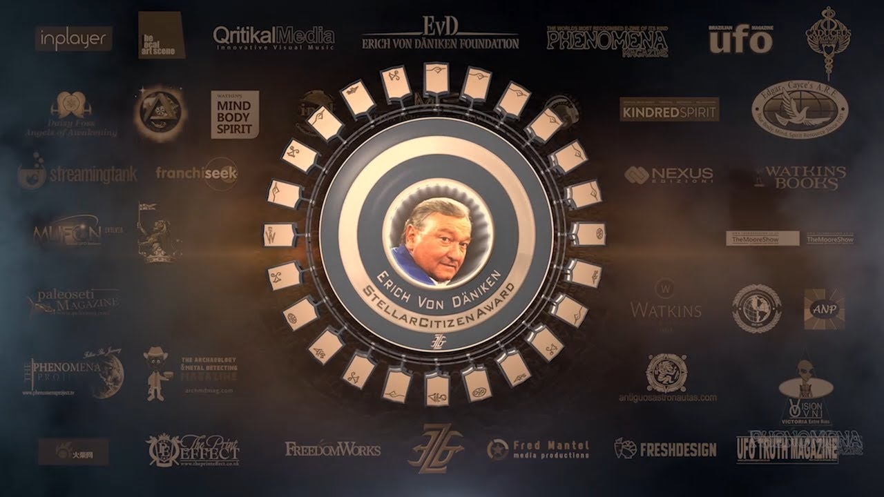 Giorgio Tsoukalos presents Erich von Daniken with Stellar Citizen Award