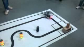 Соревнования лего-роботов. Биатлон. Попытка 2.