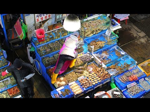 Delicious KOREAN SEAFOOD FEAST at Noryangjin Fish Market, SEOUL, South Korea