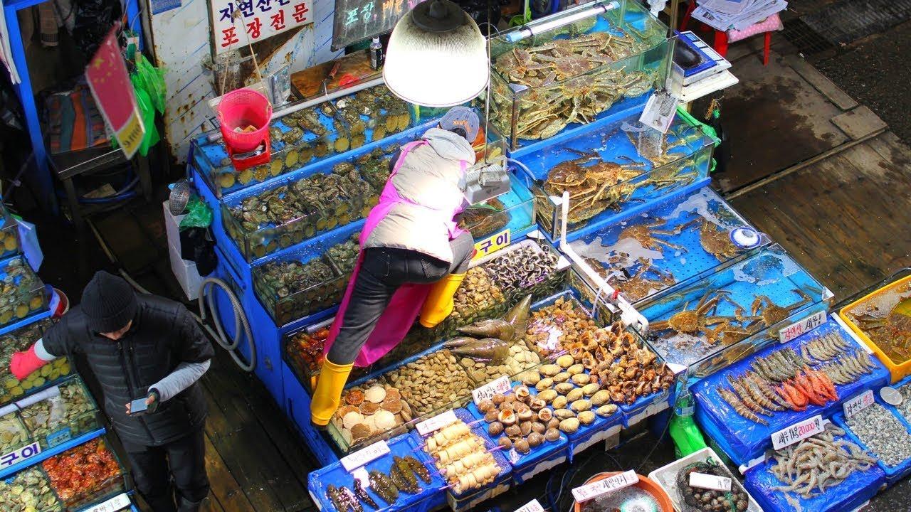 Hasil gambar untuk pasar ikan jagalchi ikan kering
