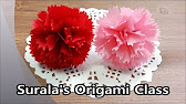Carnation flower origami paper mothers day origami kawaii066 727 mightylinksfo Images