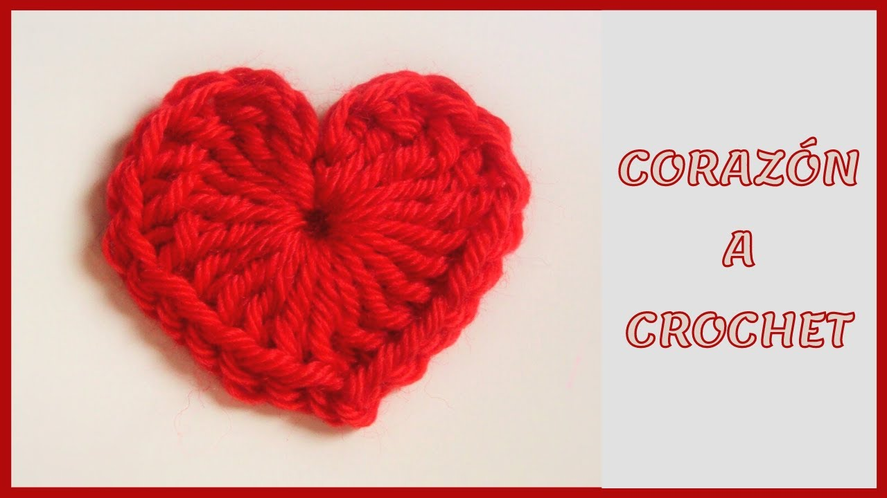 Tutorial corazón de crochet pequeño fácil y rápido paso a paso ...