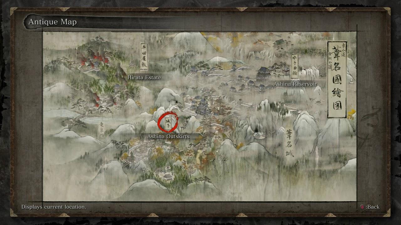 Risultati immagini per sekiro map