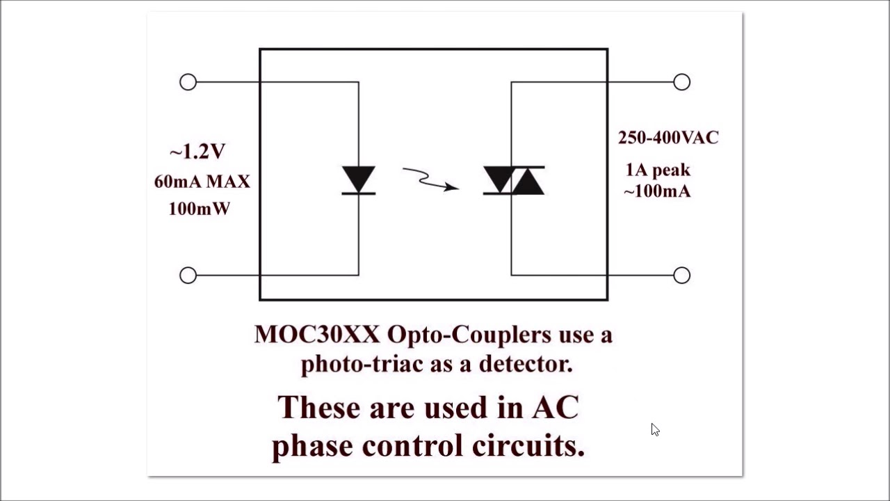 Solid State Relay Triac AC Output Circuits on