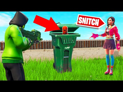 If You GET SNITCHED You LOSE! (Fortnite Hide And Seek)