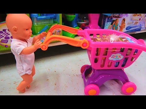 Thumbnail: Funny Baby doing shopping Nursery Rhymes Supermarket song for children, babies and toddlers