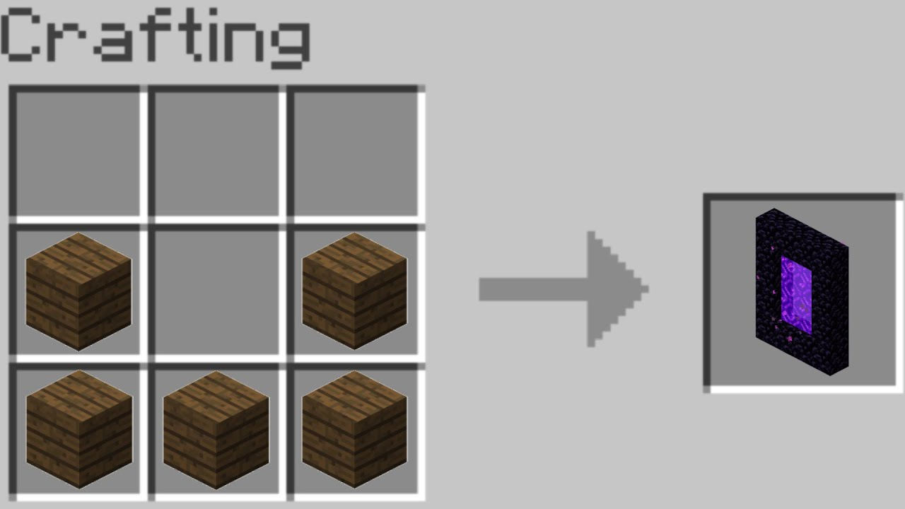 Crafting The Nether Portal in Minecraft