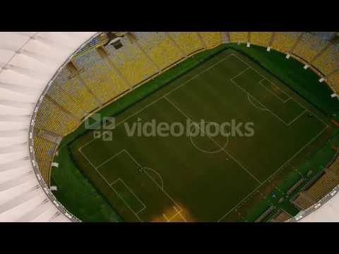 aerial footage of maracan soccer stadium rio de janeiro brazil vjyk0jdgl