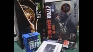 i5 6500 Z170X GAMING 3 GTX 1060 PC TOPLAMA (4000TL)