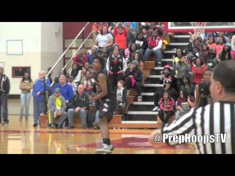 Michigan State commit Deyonta Davis 2015 Muskegon Big Reds vs Chicago Curie