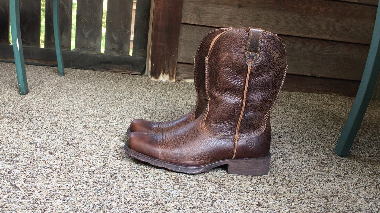 b4d04d52759 Ariat Mens Rambler Wide Square Toe Western Cowboy Boot
