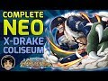 Walkthrough for All Neo X-Drake Coliseum Stages! (Free To Play) [One Piece Treasure Cruise]