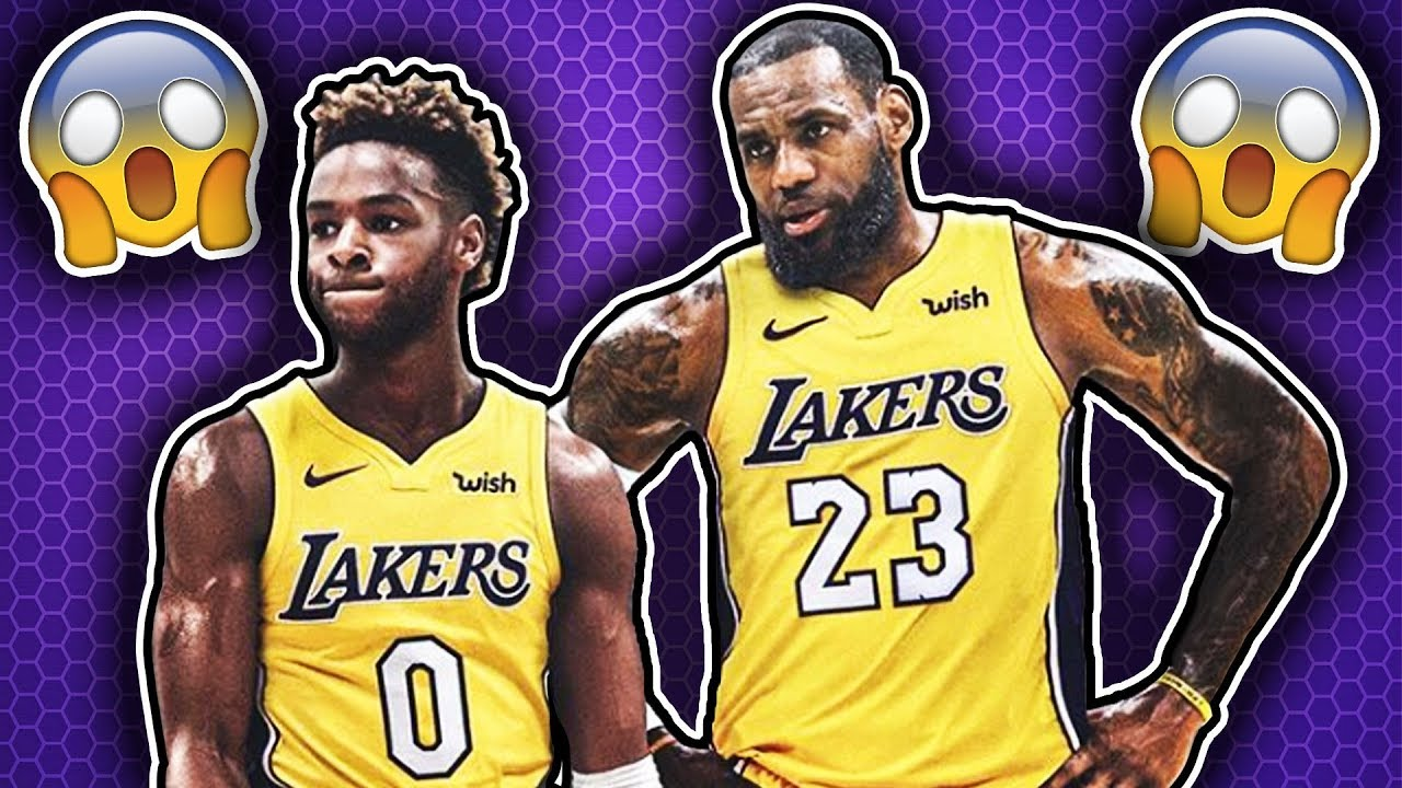 acf81560d LeBron James And His Son Playing TOGETHER On The Lakers - YouTube