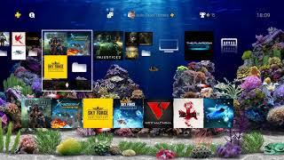 Amazing Aquarium 3D HiQ Dynamic - Tema espetacular pro PS4!