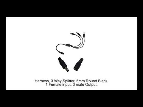 21542  Harness  3 Way Splitter  5mm Round Black  1 Female Input 3 Male Output
