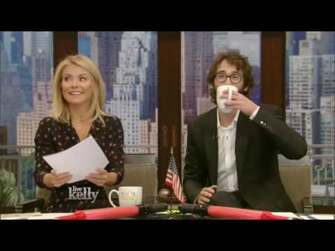 Live With Kelly co host Josh Groban (September 26, 2016) Rob Lowe,Will Forte