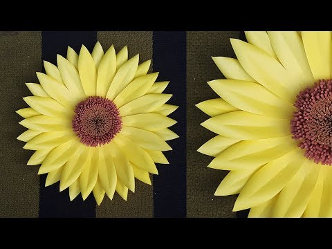 DIY Paper Sunflower for Room Decor Ideas | Giant Paper Flower Backdrop