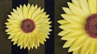 DIY Paper Sunflower for Room Decor Ideas | Giant Paper Flower Backdrop