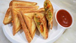 Chicken & Vegetable Sandwich | Grilled Sandwich | Quick & Delicious | Sandwich Recipe.
