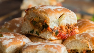 Chorizo Meatball Sliders As Made By Aarón Sanchez thumbnail