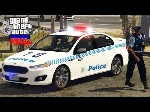 GTA 5 COPS #89 |KUFFS Down Under Adventure In Australia|New South Wales Police Force Ford Falcon XR6