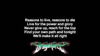 DragonForce - Power And Glory | Lyrics on screen | Full HD