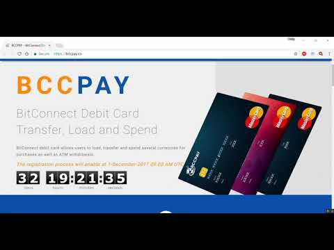 BITCONNECT BCCPAY Debit Card MASTERCARD VISA INVESTMENT MINING LENDING 29.10.2017