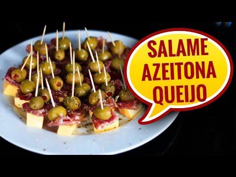 🔴  COMO FAZER APERITIVO DE AZEITONA COM SALAME - AllCoolinária #104