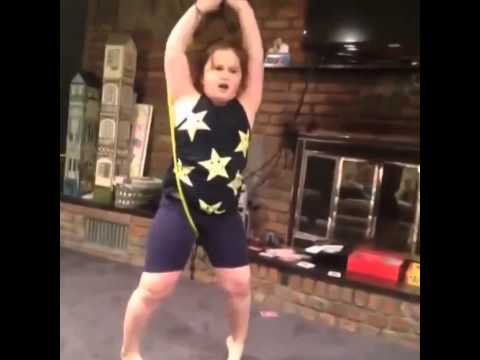 Little Girl Owns Herself With An Exercise Band Youtube