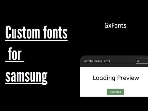 Gx Font samsung custom font installer