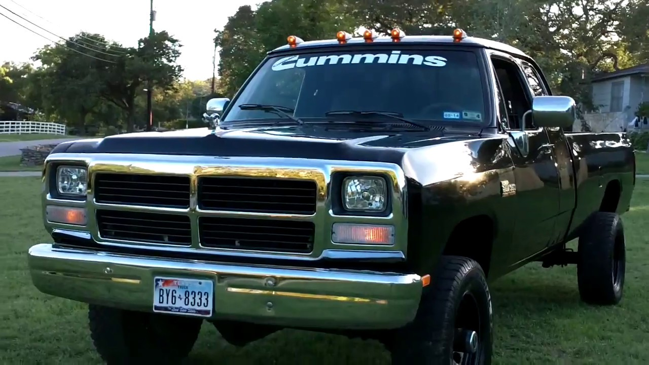 1993 dodge mins diesel - YouTube