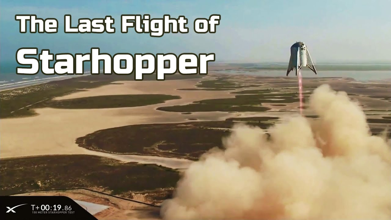 SpaceX Starhopper's final flight: 150-meter hop test!