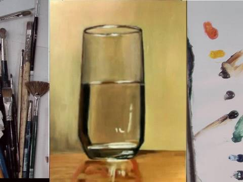 Drawing painting glass of water part 2 illustration for How to paint glass with oil paint