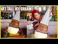 4FT TALL ICE CREAM!!! 25LBS?!- Getting Drunk off Ice Cream #RainaisCrazy
