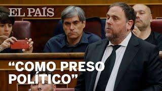 """JUNQUERAS acata la Constitución como """"PRESO POLÍTICO"""" entre una GRAN BRONCA"""