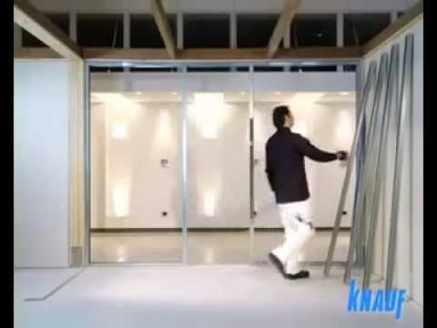 Cartongesso Knauf : Knauf posa della parete in cartongesso fase le orditure