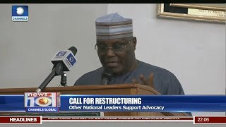 News@10: Atiku Insists Restructuring Is Timely And Beneficial 20/07/17 Pt 1