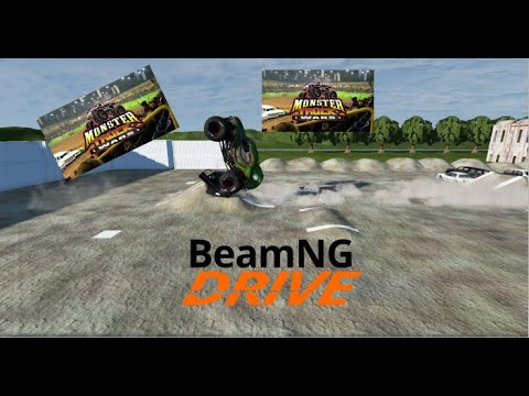 BeamNG Drive: At Lincoln Fairgrounds For Monster Truck Wars. [8 Truck Freestyle] |