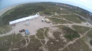 Drohnenflug über Strand & Leuchturm von Borkum