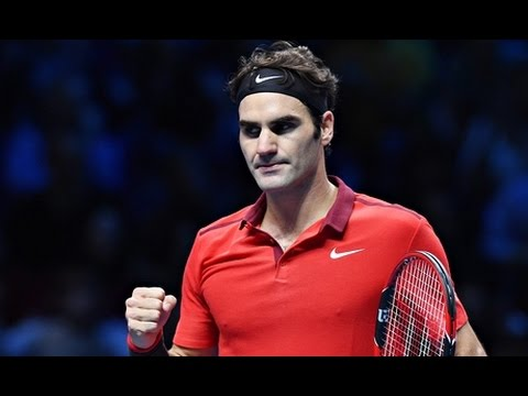 ATP WTF 2014 SemiFinal Federer Vs Wawrinka Highlights
