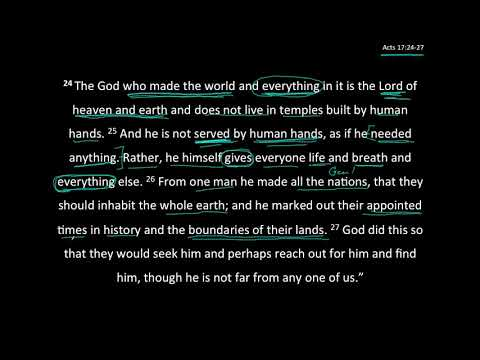An Unknown God - Acts 17:24-27