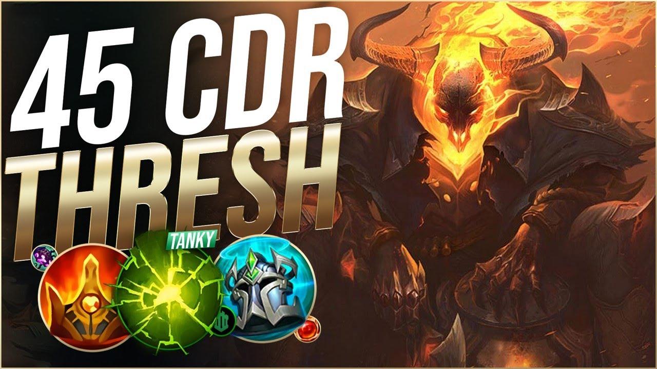 Machine Gun 45 Cdr Thresh Build Hook Every 3 Seconds League Of Legends Youtube